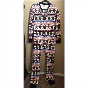 Lazy One Gingerbread Sweet Cheeks Onesie Pajamas